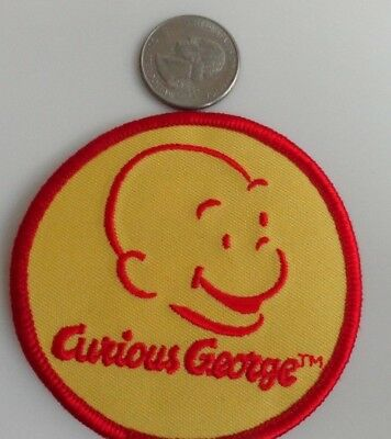 Curious George Cartoon Classic Circle Logo Embroidered Iron On Patch New - Rare