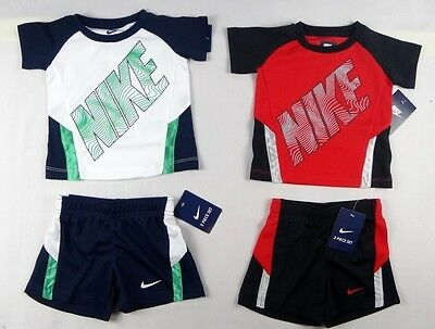 Nike baby Boys' set, 2-Piece Active Tee & Shorts Set sizes 12, 18, 24 months