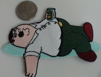 Family Guy Peter Griffin Passed Out TV Show Cartoon Iron On Patch New, Rare 2005
