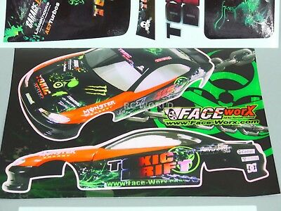 RC 1/10 Car DRIFT Decals TOXIC 2012 D1 DRIFT Decals Stickers  *NEW*