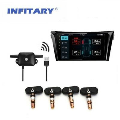 Car TPMS Android Tire Pressure Monitor for OS DVD Player USB Interface Internal