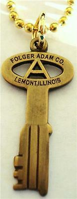FOLGER ADAM CO Prison Corrections Jail KEY PENDANT