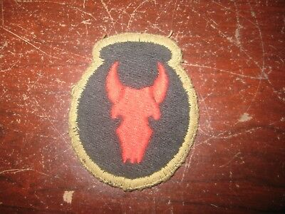 Vintage WWII US 34TH Infantry Division Class A Patch w/ Black Back