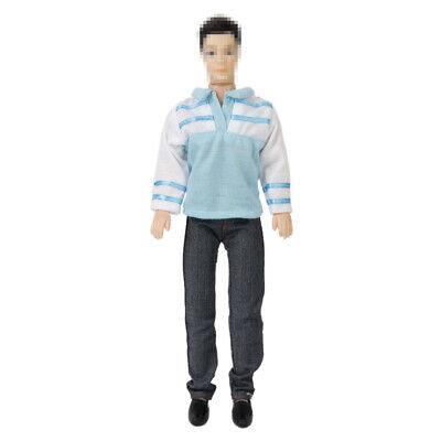 Formal Suit Long Sleeves T-shirt Pants Jeans Outfit Clothes for Barbie Doll