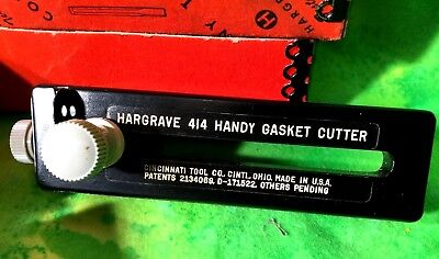 Hargrave No. 414 Adjustable Handy Gasket Cutter Metal Case Cincinati Tool Co USA