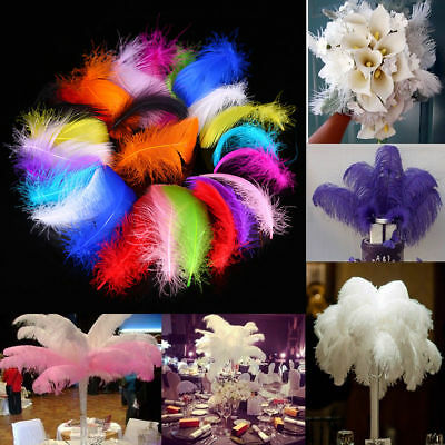 100pcs Natural Goose Feather Plumes Real Swan Feather Wedding Party Decoration