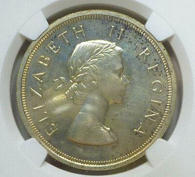 South Africa Prooflike 5 Shillings 1959 PL 63 NGC