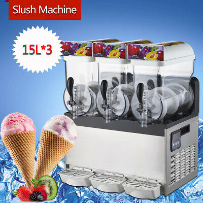 3 Tank Commercial Frozen Drink Slushie Machine Slush Slushy Juice Smoothie Maker