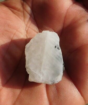 90.2 Cts Rarest 100% Natural Rough Moonstone 31X21  Loose Cabochon  Gemstone