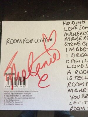 Melanie C  - Room For Love  - Signed CD Single + exclusive remix download