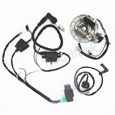 Dirt Pit Bike 50-125cc Kick Start Harness Wiring Loom CDI Coil Magneto Stator