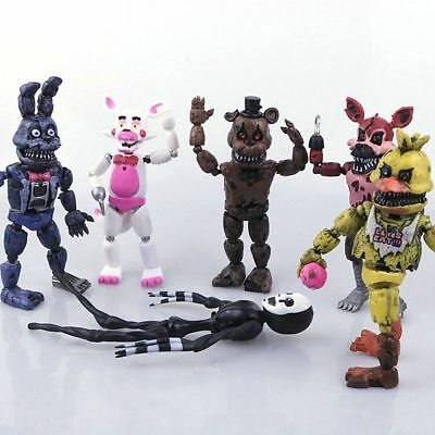 6Pcs  FNAF Five Nights at Freddy's Action Figures LED Light Toys Xmas kid Gift