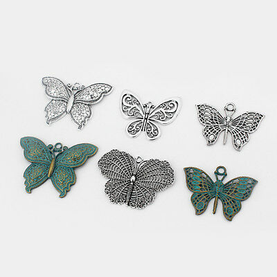 2 pcs Large Boho Butterfly Charms Pendants DIY Jewelry Findings