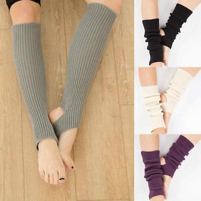 Women's Knee-high Dance Knitted Socks Leg Warmers Legging Crochet Stockings JA