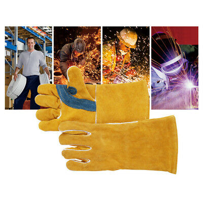High Temperature Welding Welder Work Soft Cowhide Leather Gloves For HandProtect