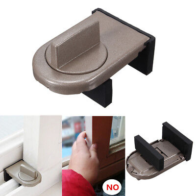 Window Door Sliding Lock Sash Restrictor Anti-theft Latch Catch Safety Security