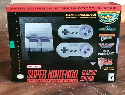 Super Nintendo Entertainment System Snes Classic Mini New In Hand