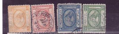 Egypt 1867 issues x 4 mh/sound used cat £80