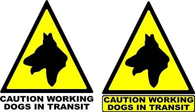 2 x 12'' Dog warning Triangles sticker  Graphic Decal