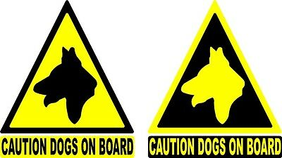 6'' Dog warning sticker / Dogs on board car /van sticker x 3 pk