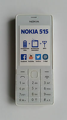 "☆ NOKIA 515 ""Weiß"" ☆ Handy Dummy Attrappe ☆ Not real mobile phone! ☆ DUMMY ☆NEU☆"