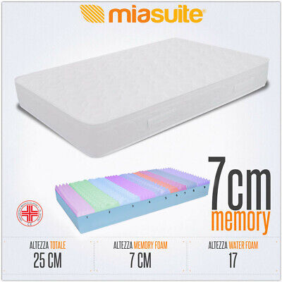 Materasso Memory Francese 140X190 H25 Cm 9 Zone Differenziate 7 Cm Memory Like