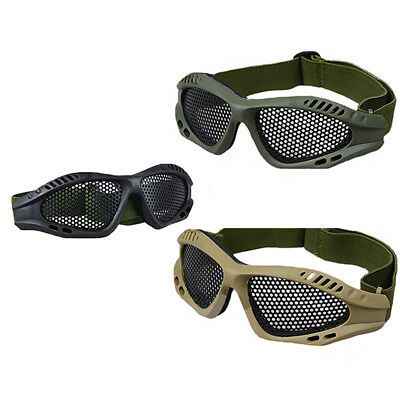 Tactical Airsoft Eye Protection Goggles Motorcycle Anti Fog Steel Mesh Glasses