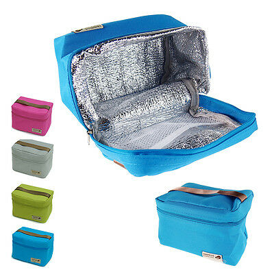Insulated Thermal Cooler Lunch Box Bento Tote Storage Bag Case Picnic Portable I