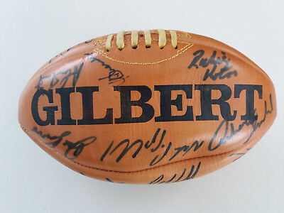 signed rugby ball and other