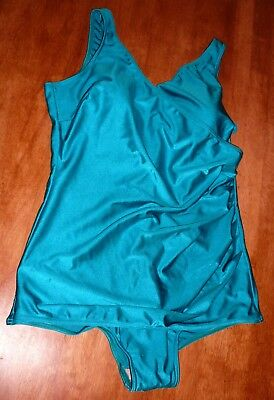 Vintage Womens Bathers Jantzen One Piece Size 18 Aqua Pretty Summer Swimwear