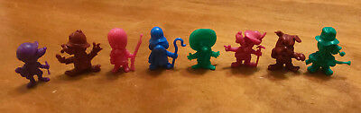 R&l 1971 Cereal Toys ~ Corny Canines, Complete Set Of 8! Daffy Dawgs, Kelloggs B