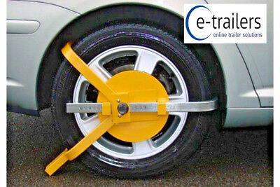"Uk Stock Fast Delivery For Xmas - Car Trailer Caravan 13-17"" Wheel Clamp Mp9065"