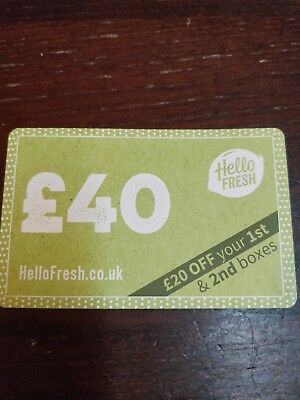 Hello Fresh Home Delivery £40 OFF Food Box Home Cooking Fresh Food Gift Voucher