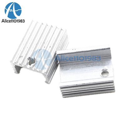 10PCS Heat Sink 21x15x10mm Aluminum Heat Sink TO-220 Transistors DIY