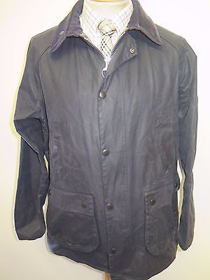 """Barbour Heritage Men's SL BEDALE Waxed jacket - 42-44"""" Euro 52-54 in Blue"""
