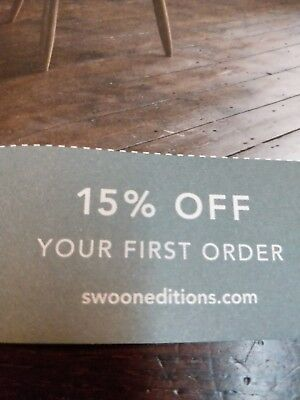 SWOON Editions 15% OFF First Order hand crafted furniture Tabl Gift Card Voucher