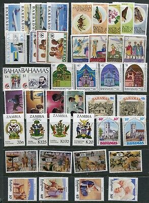 QEII Commonwealth collection of 50 sets/issues MNH (5 scans)
