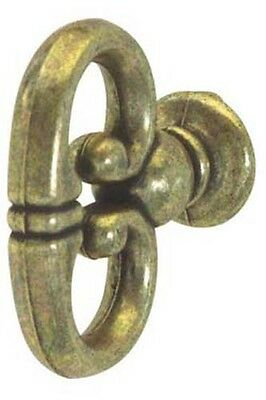 Hardware cabinet dresser Drawer Pull KNOB Mock Key Antique Brass