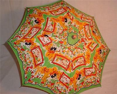 Vintage Child's Cartoon Character Toy Parasol People's Republic Of China