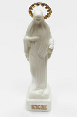 Statue of Our Lady Virgin Mary Medjugorje made of Plastic in White Gold Crown