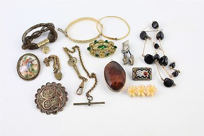 Vintage & Antique COSTUME JEWELLERY Lot Limoges, ART DECO, Brooches, CZECH