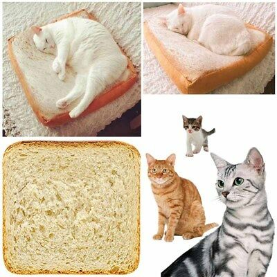 Cute Toast Pillow Home Cartoon Mats Warm Winter Gift Real-like Plush Toys