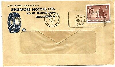 Singapore firms illustrated cover used World Health Day slogan 1957