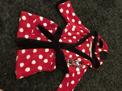 Minnie Mouse Dressing Gown 9-12m
