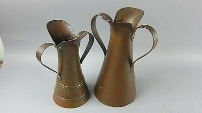 Pair of Antique Signed Bronze Imperial Russian Two Handled Ewers