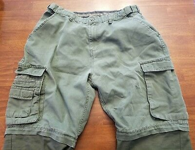 VBoy Scouts Of America Convertible Cargo Pants Youth 34 Olive Green BSA VTG