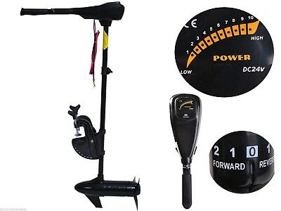 "86lbs Freshwater Transom Mounted Trolling Motor 36"" Boat Shaft Tender Inflatable"