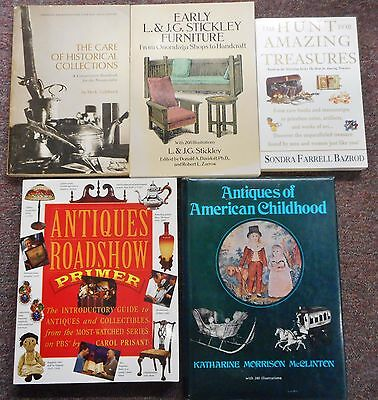 Antiques Collecting Roadshow Stickley American Childhood Bazrod 5 books lot