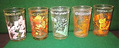 Vintage, Assorted 6-oz Welch's Collectible Jelly Glasses *1970s*