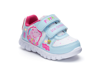 NEW NWT Peppa Pig Light Up Sneakers Baby Toddler Size 5 6 7 9 10 11 12